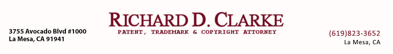 Richard D. Clarke Patent, Trademark & Copyright Attorney